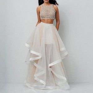 Glamour by Terani Couture Two-Piece Ballgown